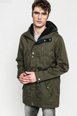 Man's Przejściowa kurtka męska z kapturem zielona