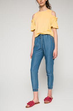Woman's Spodnie damskie Basic niebieskie