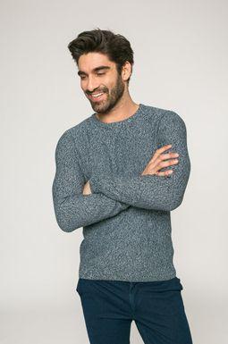 Man's Sweter męski City Rhythmes turkusowy