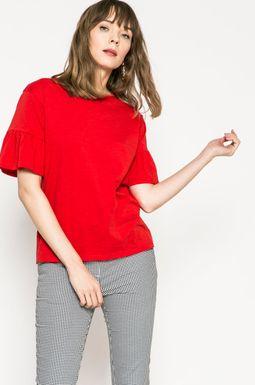 Woman's Top damski Basic czerwony