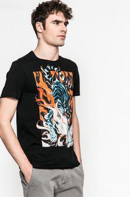 Man's T-shirt męski Joanna Krótka for Medicine czarny
