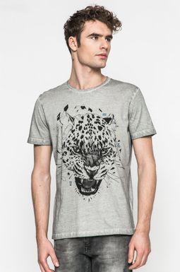 Man's T-shirt męski Slow Future szary