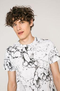 Man's T-shirt męski Rock and Roll Never Ends biały