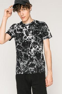 Man's T-shirt męski Rock and Roll Never Ends czarny