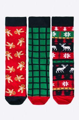 Woman's Skarpetki damskie Xmas (3-pack) multicolor
