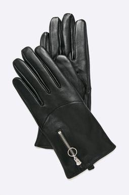 Woman's Rękawiczki damskie skórzane Dark Bloom czarne