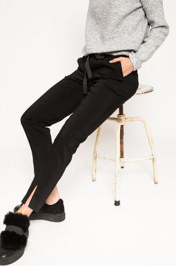 Woman's Spodnie Grey Earth czarne
