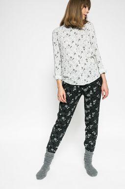 Woman's Spodnie damskie Xmas czarne