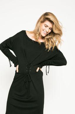 Woman's Sukienka damska Dark Bloom czarna