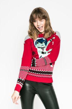 Woman's Sweter damski Xmas czerwony