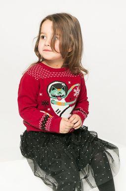 Woman's Sweter dziecięcy Xmas 92-140 cm czerwony