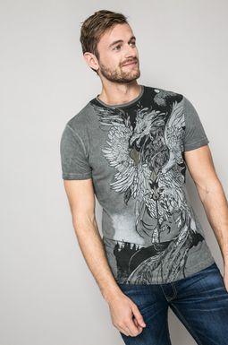 Man's T-shirt męski Invincible Warriors szary