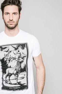 Man's T-shirt męski Invicible Warriors biały