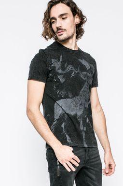 Man's T-shirt męski Invincible Warriors czarny