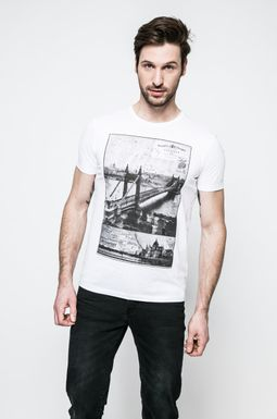 Man's T-shirt męski Grand Hotel Budapest biały