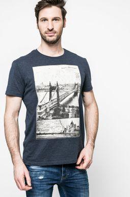Man's T-shirt męski Grand Hotel Budapest granatowy