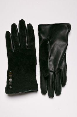 6b74783dd632f Rękawiczki damskie z ozdobnymi detalami czarne
