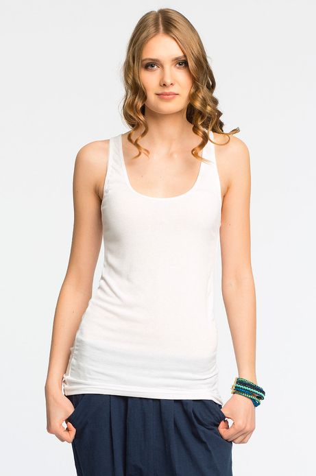 Woman's Top Boho biały