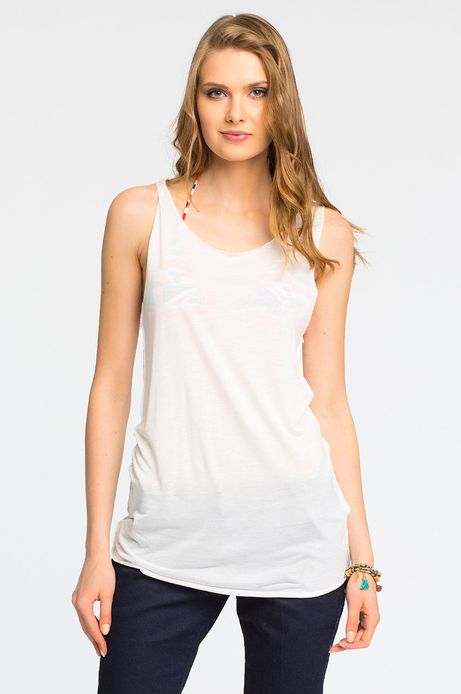 Woman's Top Fuertaventura biały