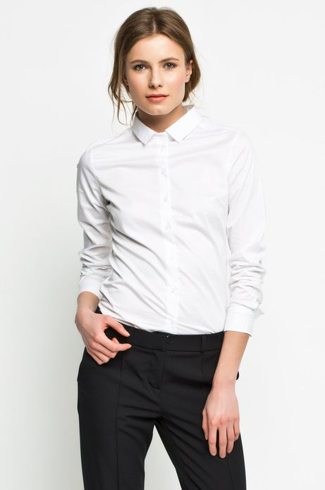 Woman's Koszula Work In Progress biała
