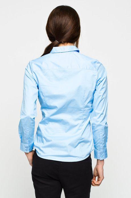 Woman's Koszula Work In Progress niebieska