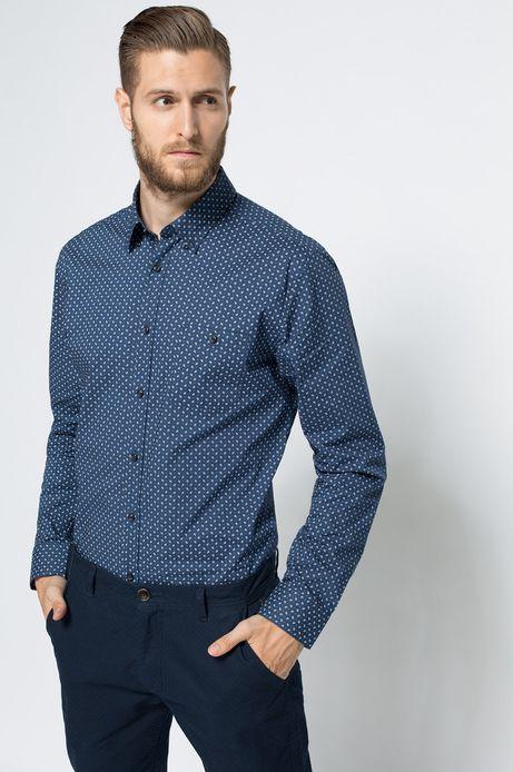 Koszula Linen niebieska