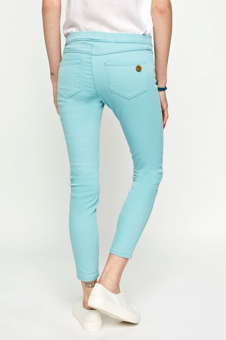 Woman's Spodnie Cruising turkusowe