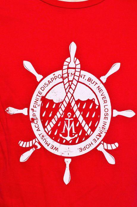 Man's T-shirt Cruising czerwony