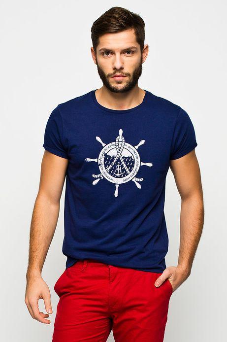 T-shirt Cruising granatowy