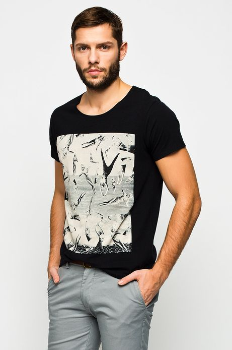 Man's T-shirt Zuza Krajewska & Bartek Wieczorek for Medicine czarny