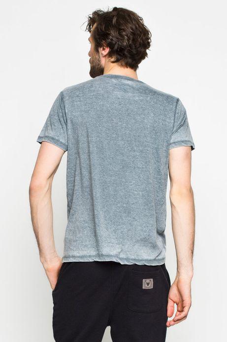 Man's T-shirt Art Therapy niebieski