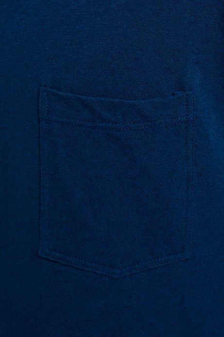 Man's T-shirt Linen granatowy