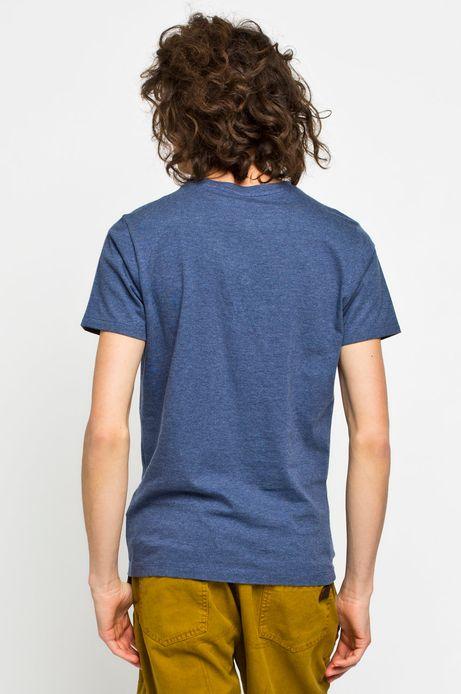 Man's T-shirt Rocking It granatowy