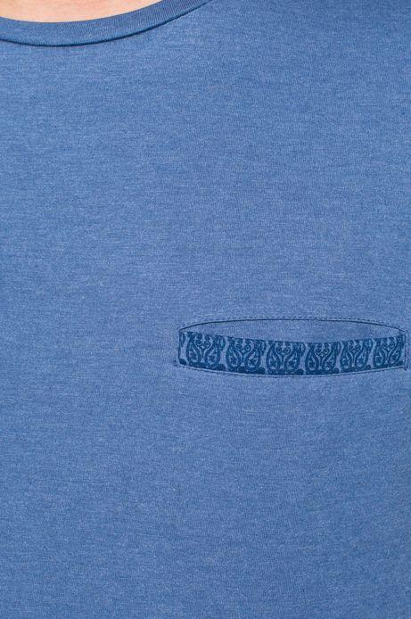 Man's T-shirt Rocking It niebieski
