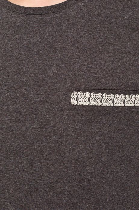 Man's T-shirt Rocking It szary