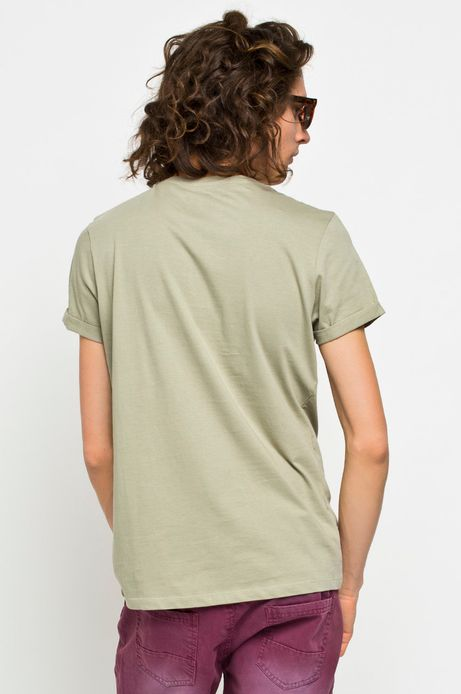 Man's T-shirt Rocking It zielony