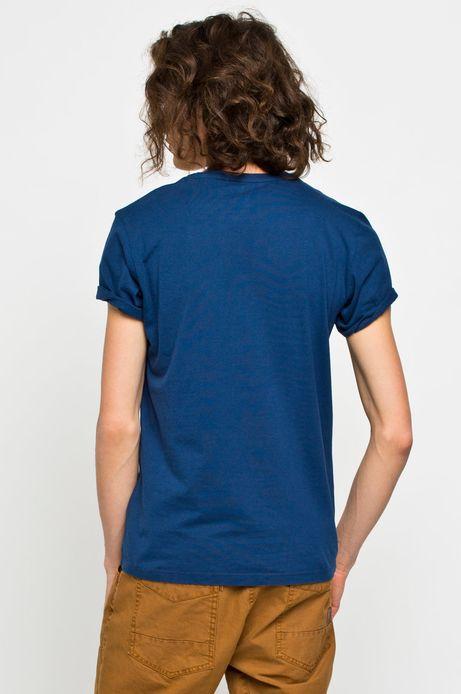 Man's T-shirt Crusing granatowy