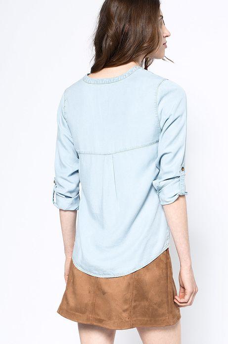 Woman's Koszula Artisan niebieska