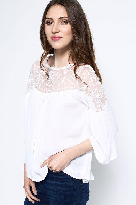 Woman's Bluzka Artisan biała