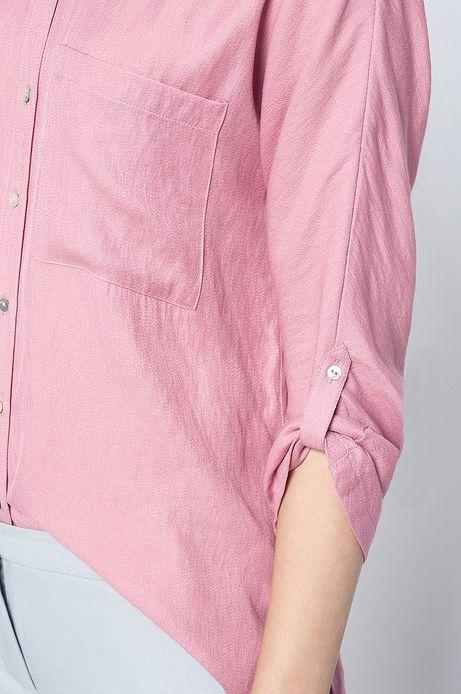 Woman's Koszula Work In Progress różowa