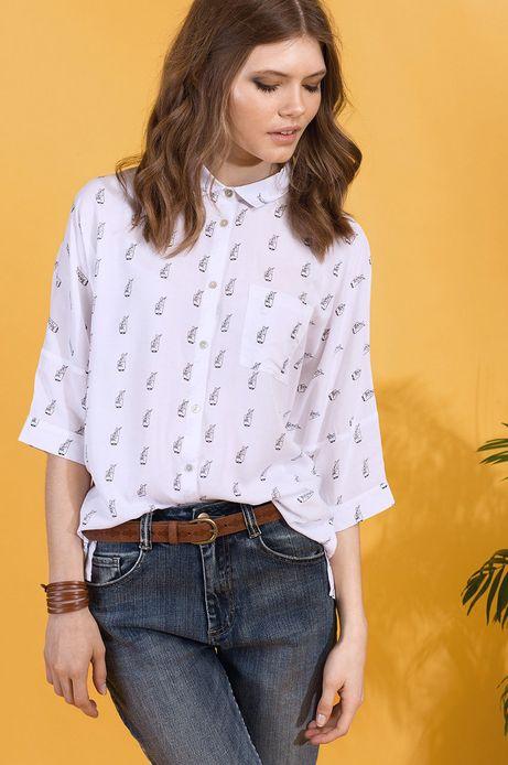 Woman's Koszula Dawid Ryski for Medicine  biała