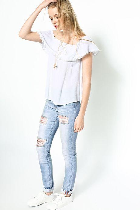 Woman's Top Decadent biały