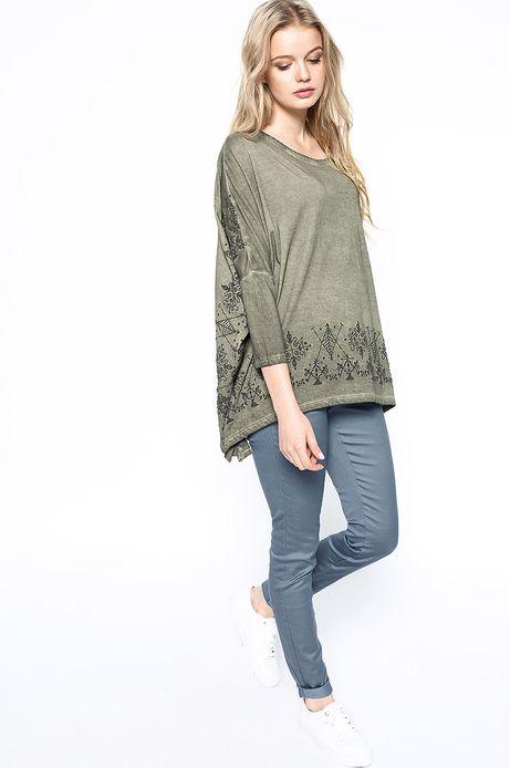 Woman's Bluzka Decadent zielona