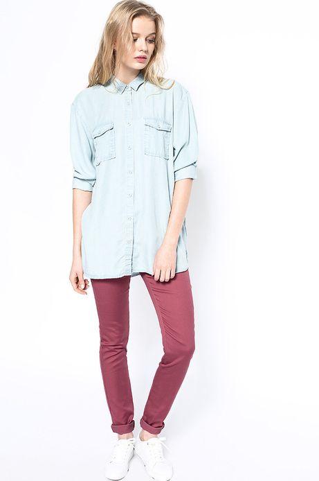 Woman's Koszula Decadent niebieska