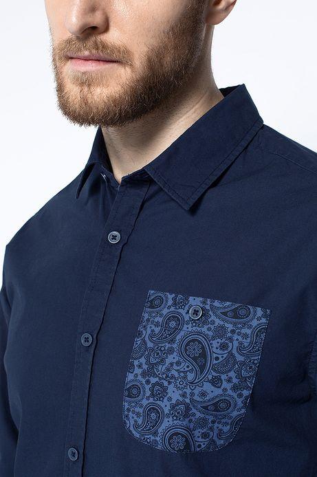 Man's Koszula Artisan granatowa