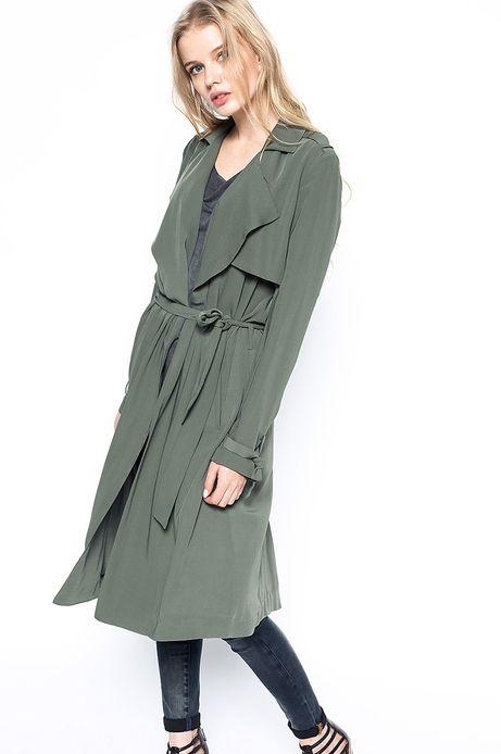 Woman's Płaszcz Decadent zielony