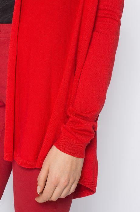 Kardigan Artisan czerwony