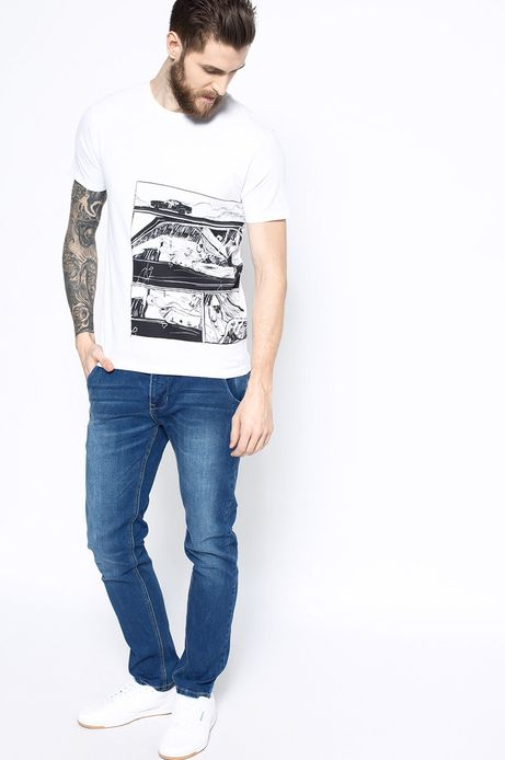 T-shirt Work In Progress biały