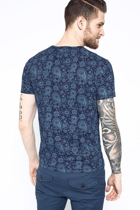 T-shirt Aristan granatowy