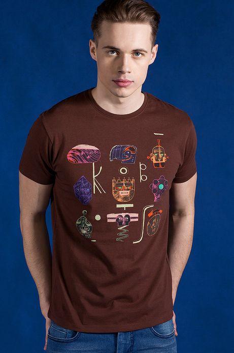 T-shirt Patryk Hardziej for Medicine brązowy